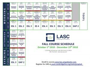 Irvine Class Schedule Fall 2018-1