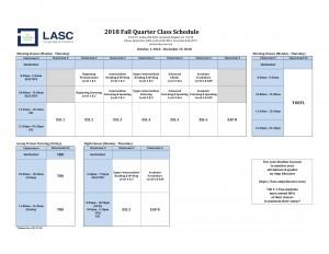 RH Class Schedule - Fall 2018-1