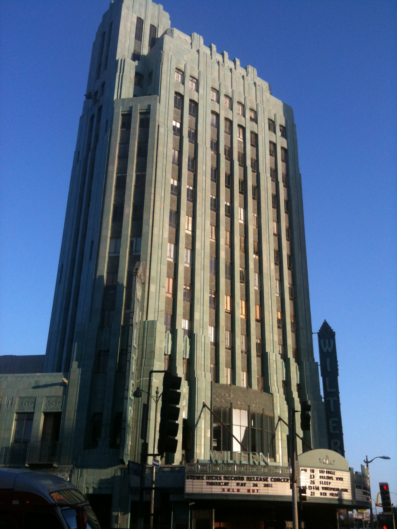 Wiltern Theater at the Wilshire/Western Station Entrance