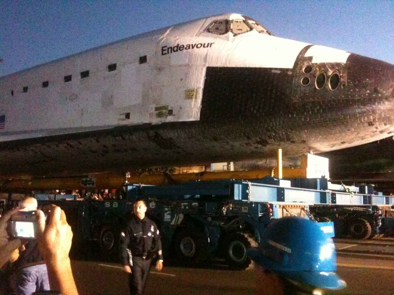 Space Shuttle Endeavour at the LA Science Museum near USC